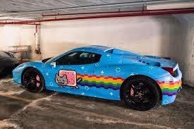 review mobil ferrari 458 warna biru