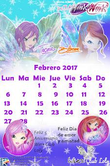 Calendario Febrero 2017