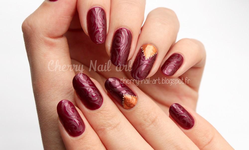nail art contraste mat brillant et accent nail triangle