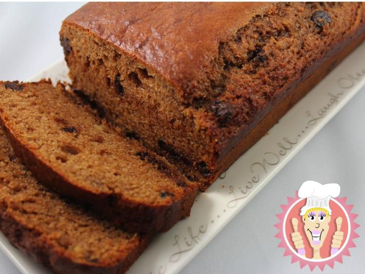Ellen B Cookery: Chocolate Chip Banana Bread, Eggless