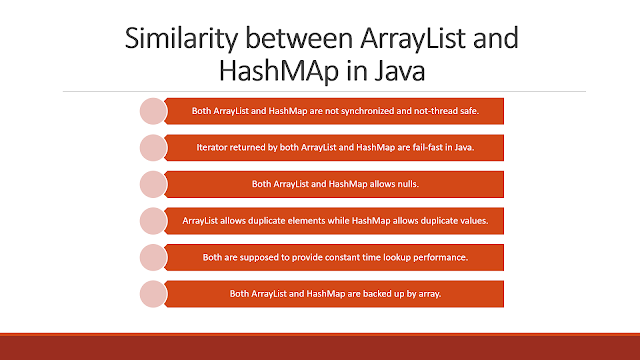 Similarity between HashMap and ArrayList in Java