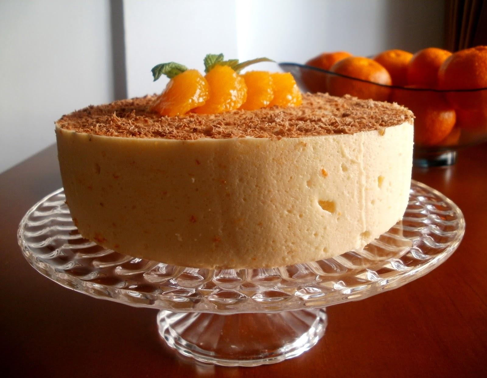 Los antojos de clara tarta mousse de mandarina - Postre con mandarinas ...