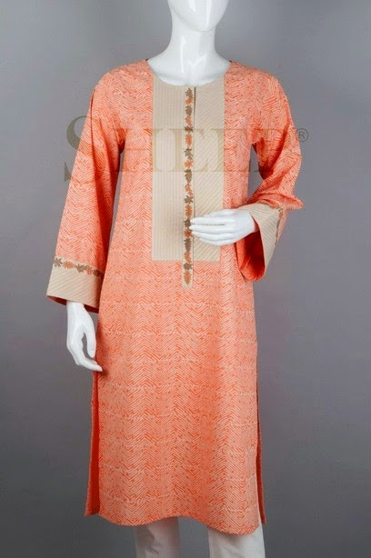 Pink Color Shades of Sheep Kurti for White Trouser