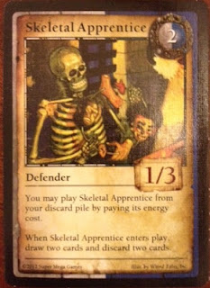 Skeletal Apprentice from Mage Tower card game