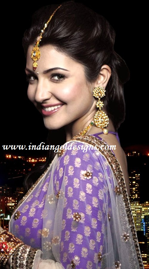 KUNDAN JEWELLERY - NEW red lct stone studded gold plated long
