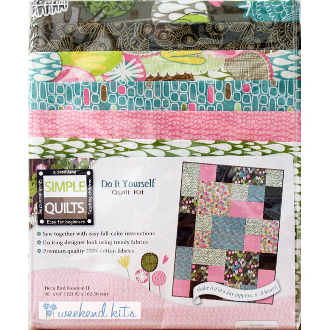 Weekend kits blog quilt kits simple quilting patterns for beginners deco bird quilt kit solutioingenieria Images