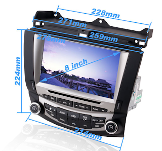 8 inch oem fit aftermarket honda accord car dvd gps navigation system