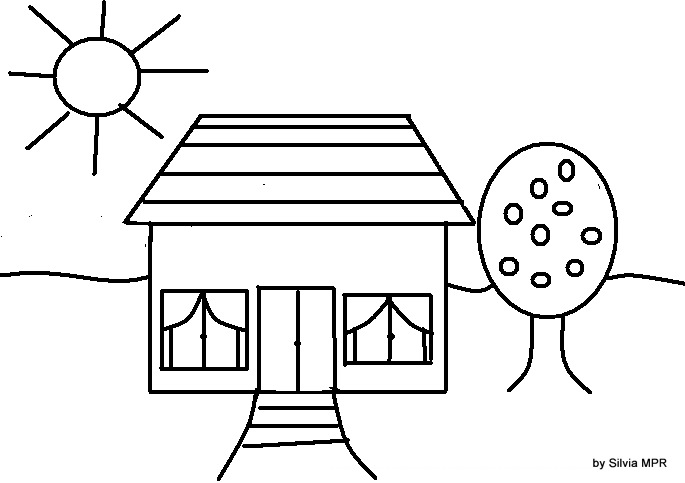 Dibujos para pintar colorear casas 73 car interior design - Formas de pintar una casa ...