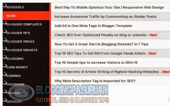 Cara Membuat Widget SITEMAP ( Daftar Isi Blog ) Keren