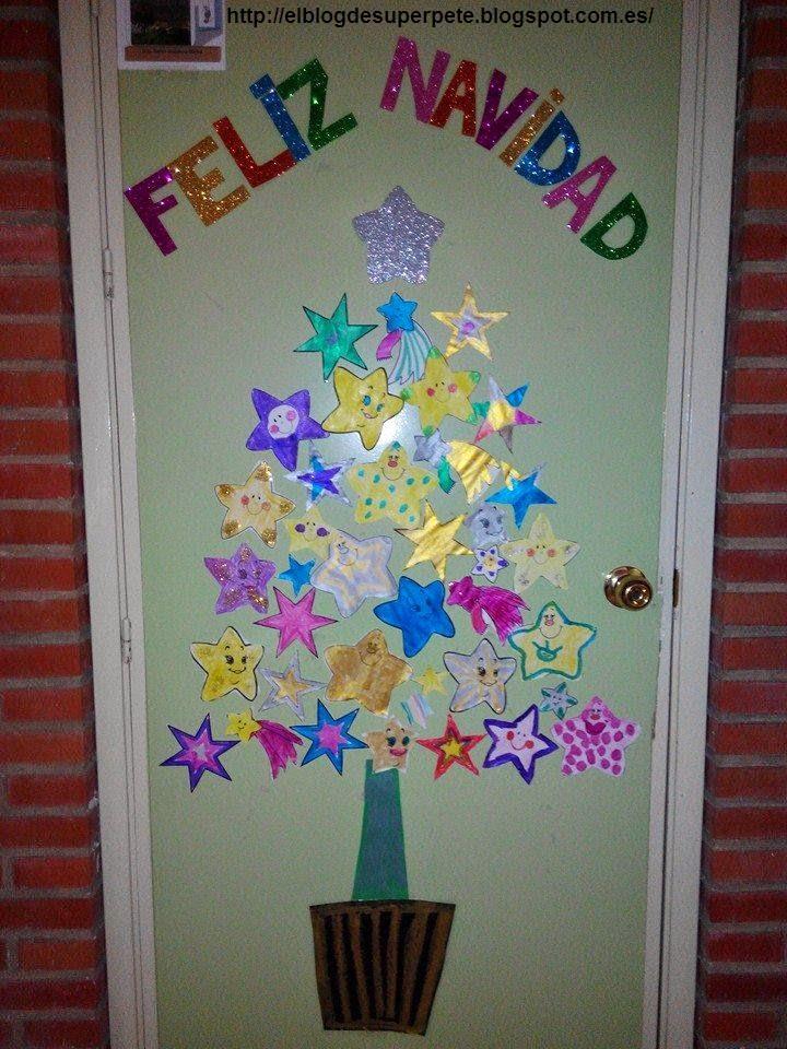 S per pt nuestra puerta navide a for Decoracion navidena para ninos