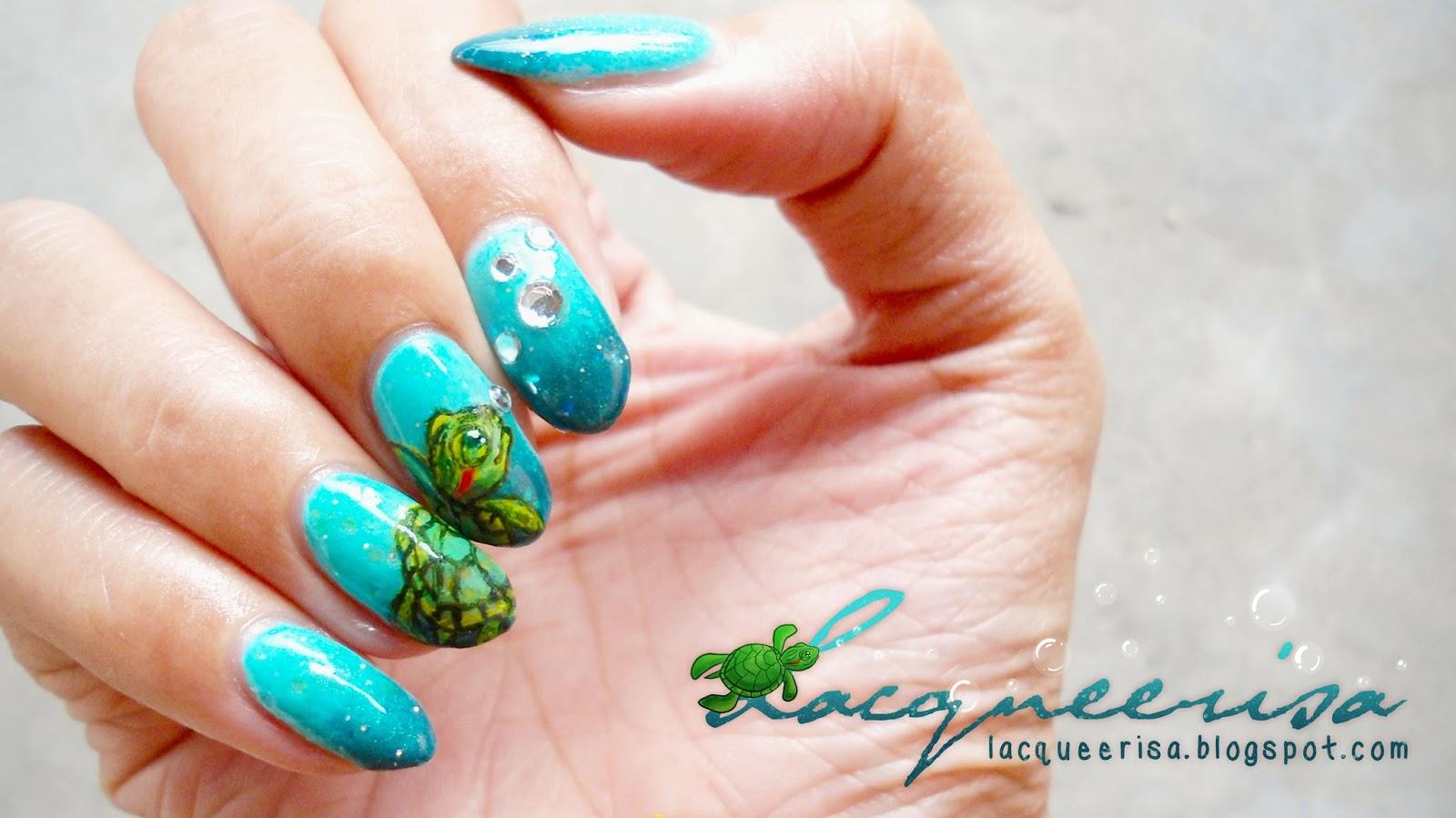 Bubbles and A Turtle lacqueerisa.blogspot.com