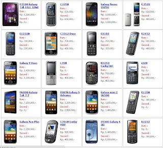 Daftar Harga HP Samsung Baru dan Bekas Februari  2013