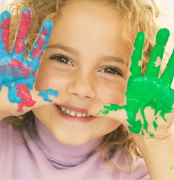 http://criandomultiples.blogspot.com niña pintada respeto