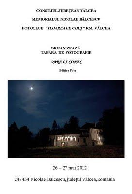 Tabăra de fotografie VARA LA CONAC  26-27 mai 2012