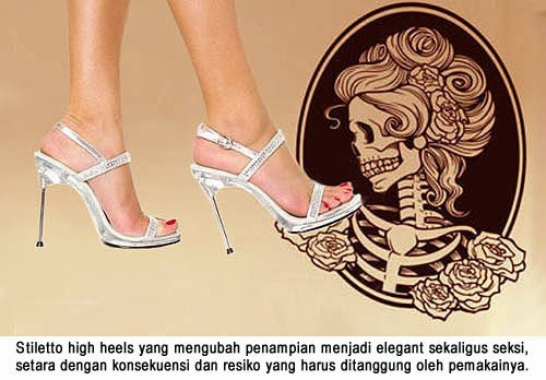 Pakai Sepatu Wanita Stiletto Atau Tidak ?
