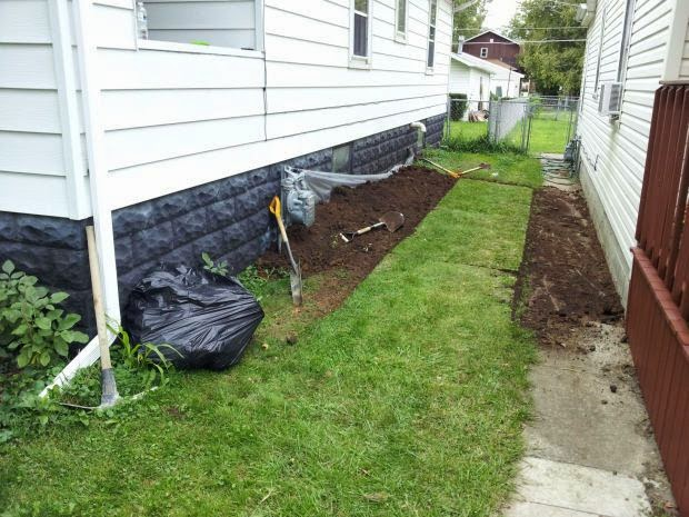 outdoor french drain