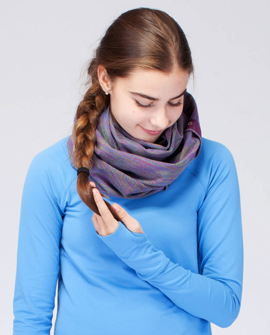 ivivva village chill scarf jacquard plum