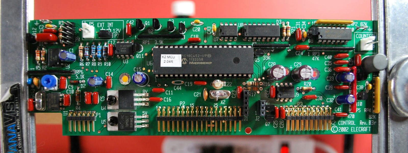 Ve3wdms Elecraft K2 Build The Control Board Green Electrical Circuit With Microchips And Transistors Stock