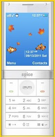 Spice S9090 CandyBar Phone with Transparent OLED Screen