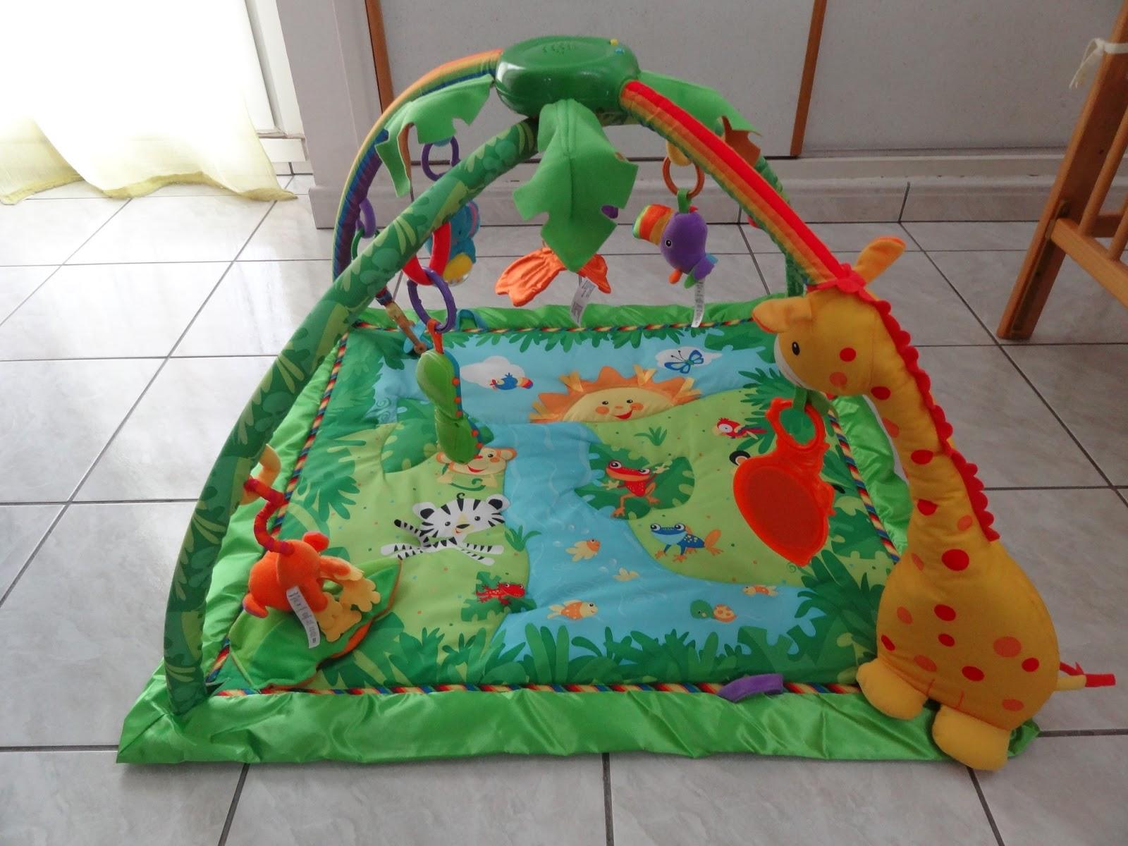 Carrelage Design tapis d eveil jungle : Le tapis du0026#39;u00e9veil de Louloup, le tapis de la Jungle Fisher-Price !!!!