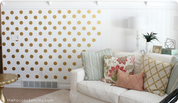A Gold Polka Dot Accent Wall