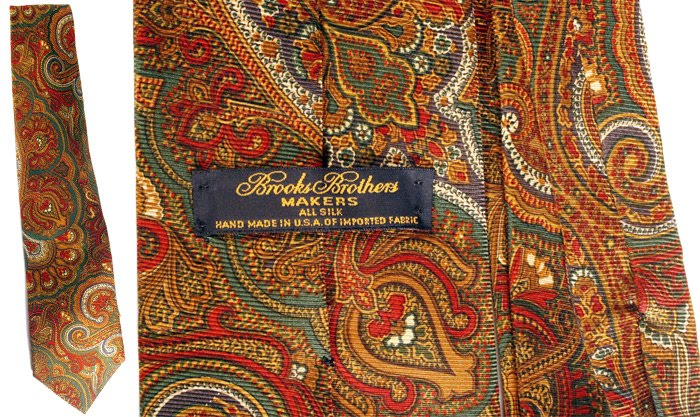 Brooks Brothers paisley