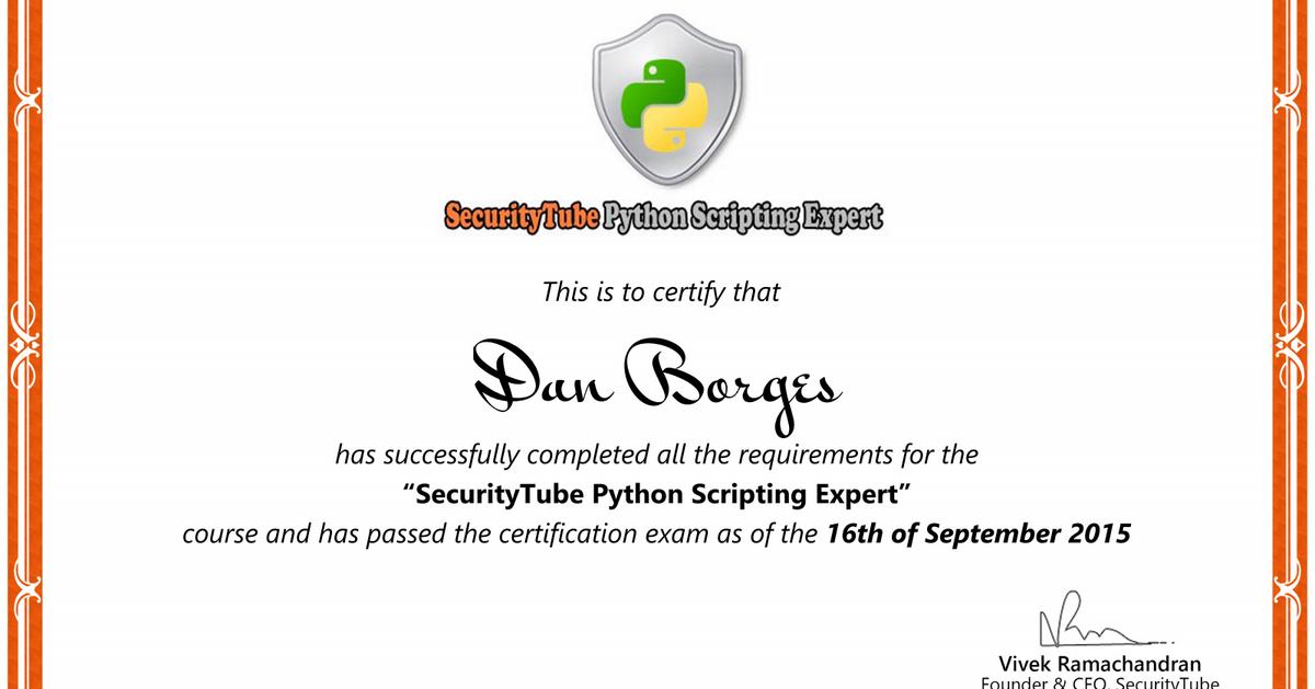 Securitytube Python Scripting Expert Course Complete Spse Lockboxx
