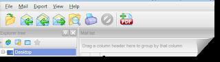 Export .eml to pdf - toolbar image