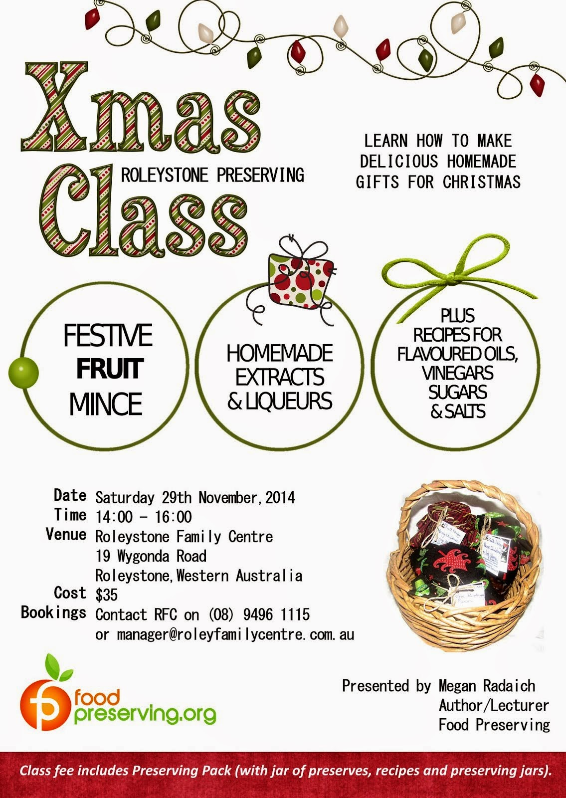 NOVEMBER 29: ROLEY XMAS CLASS
