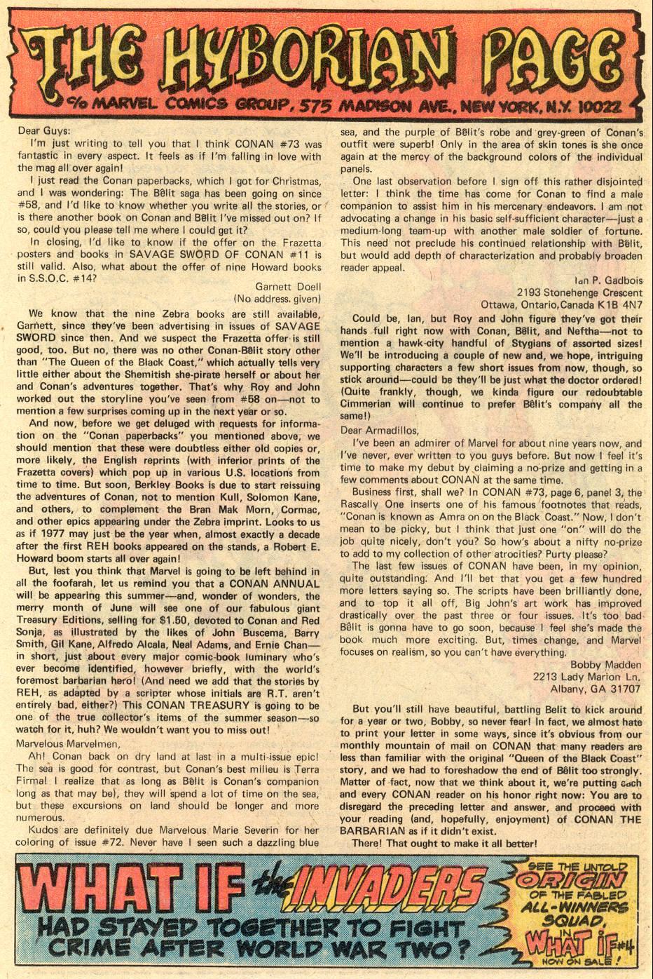 Conan the Barbarian (1970) Issue #77 #89 - English 22