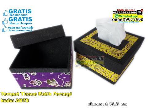 Tempat Tissue Batik Persegi murah