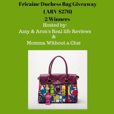 Enter the Fricaine Duchess Bag Giveaway. Ends 8/26