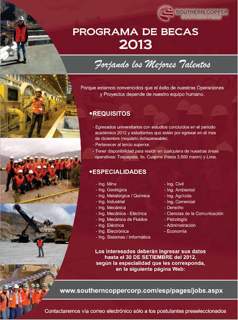 Programa de Becas 2013 Southern Perú