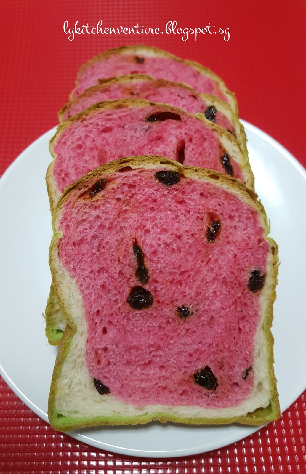 LY's Kitchen Ventures: Watermelon Raisin Loaf