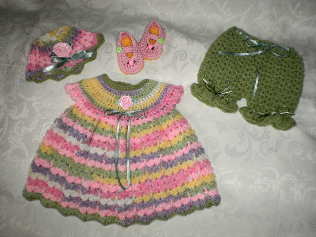 sweater dress, bloomers set $30