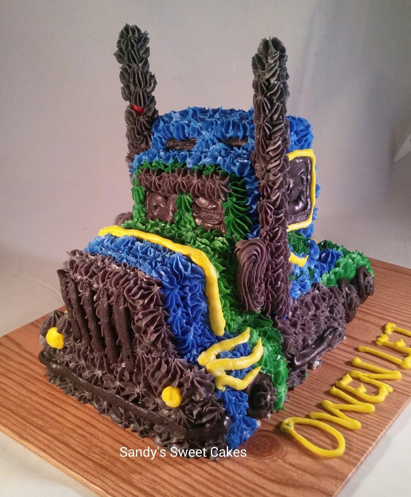 Sandys Sweet Cakes 3D 18 wheeler tractor trailer truck cake