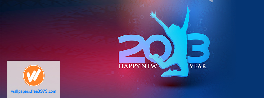 2013 New Year Facebook Cover Timeline