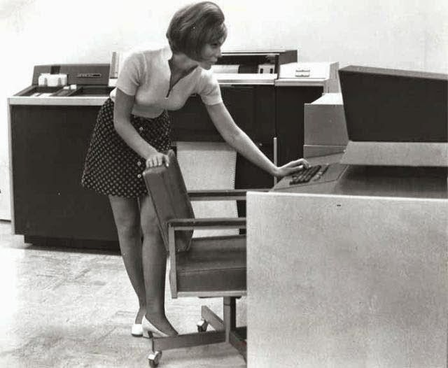 vintage everyday retro office girls