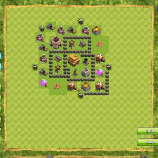 Base Clan War TH4 3