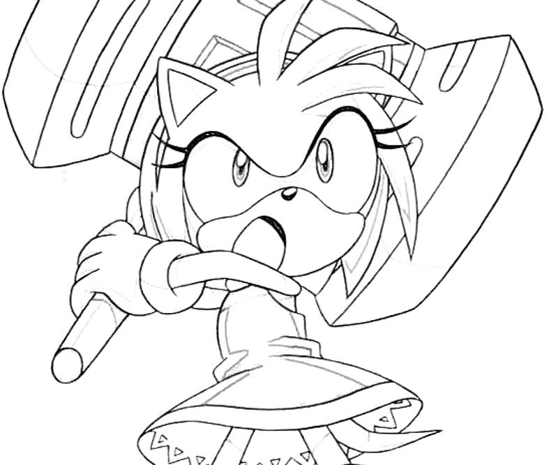 Sonic Generations Amy Rose Giant Hammer Surfing