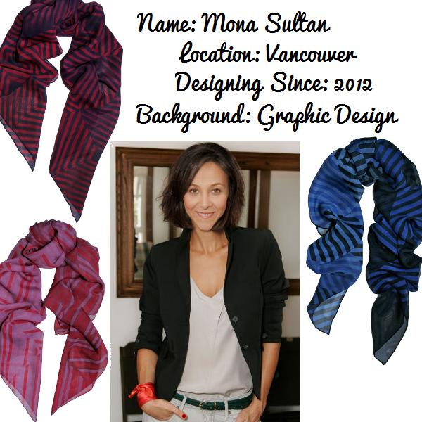 Vancouver-based silk scarf designer Mona Sultan