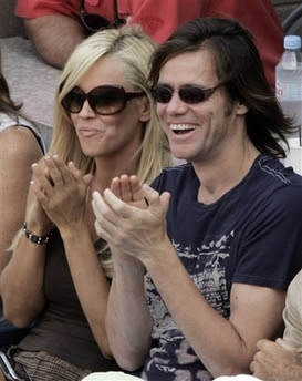 Jim Carrey with Wife