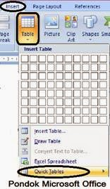 gambar ikon Quick tables