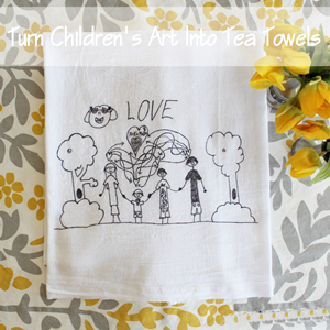 Tutorial: How to Turn Children&#39;s Art into Tea Towels