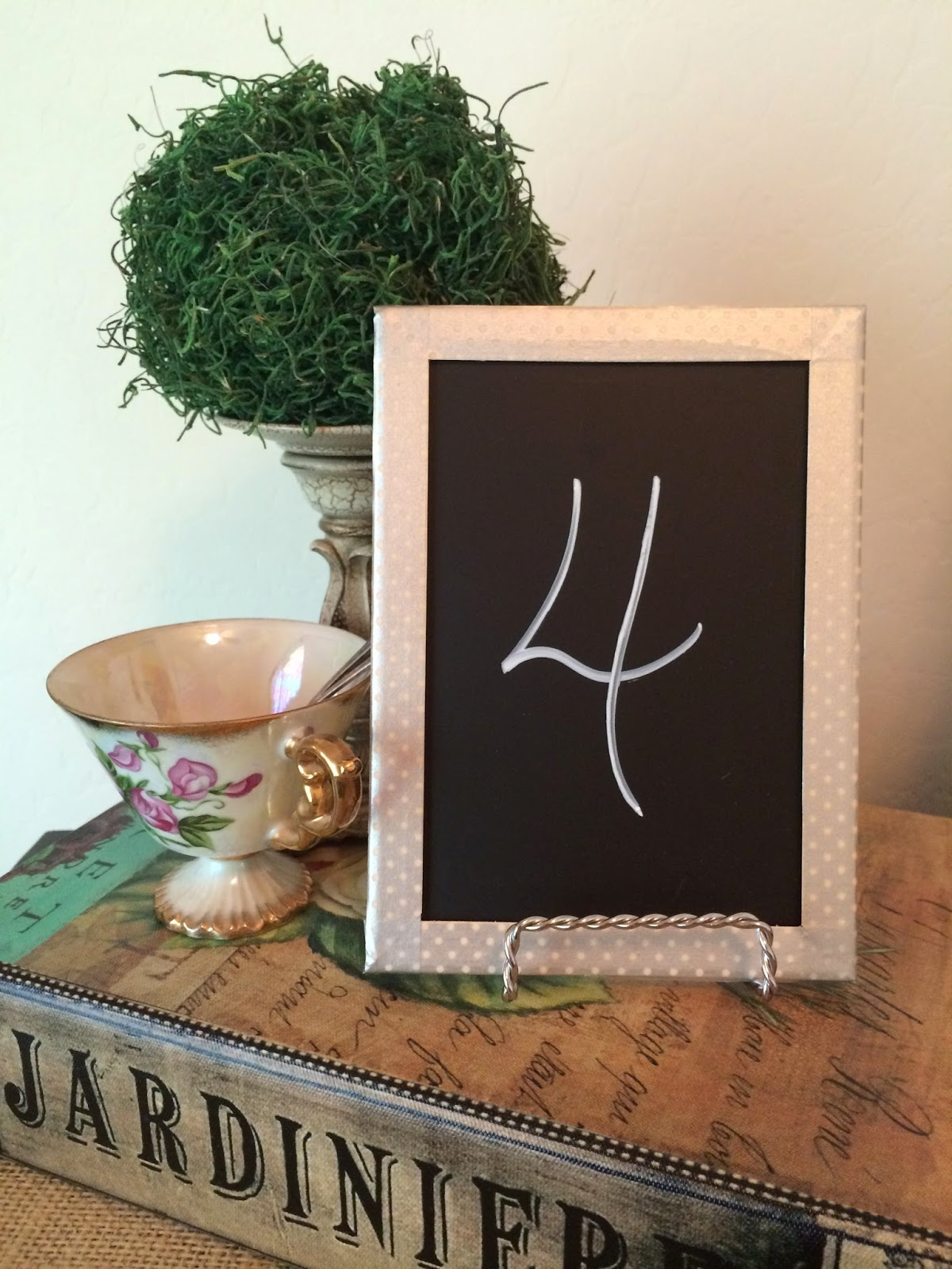 washi tape chalkboard table number