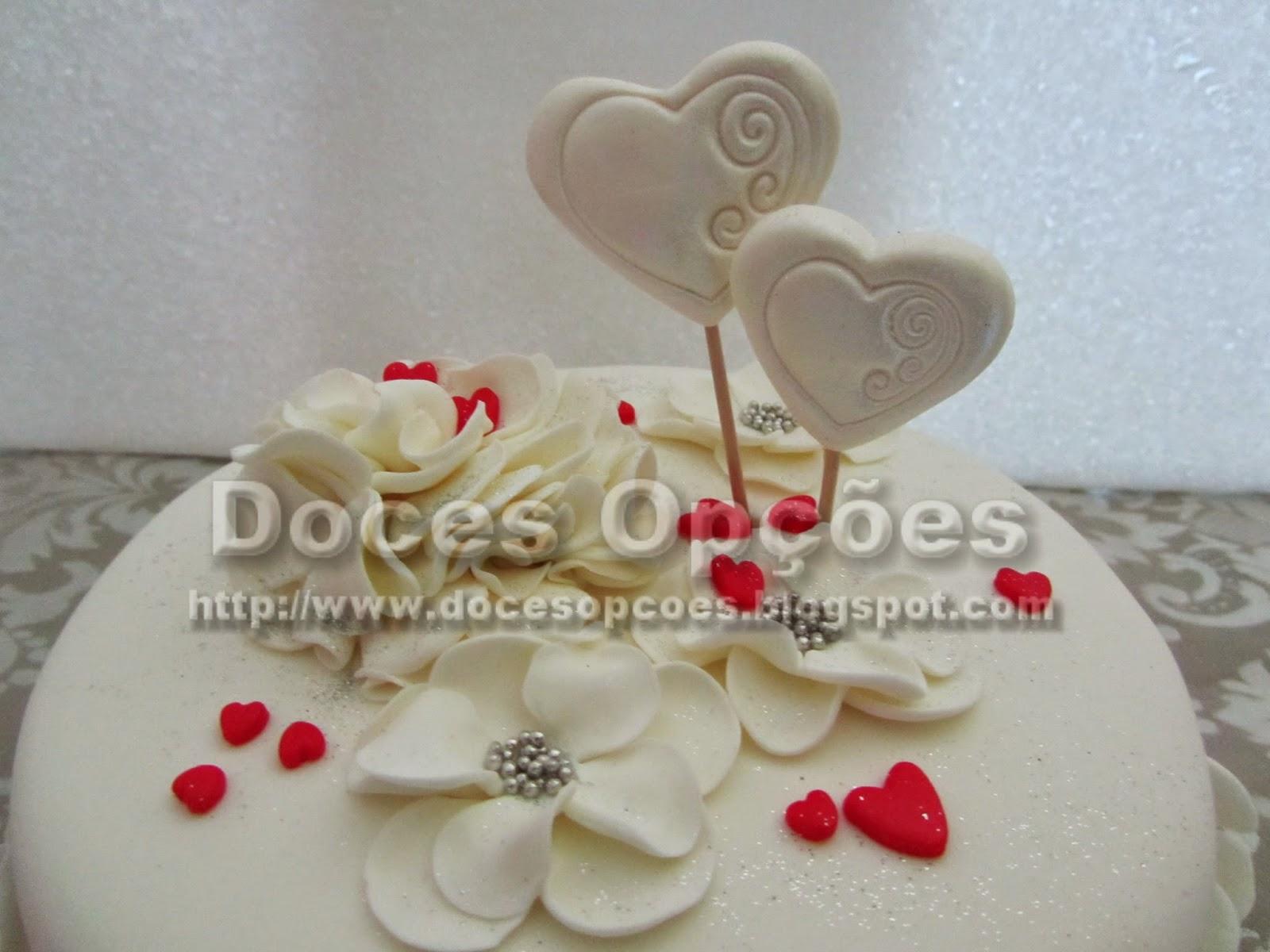 bolo corações
