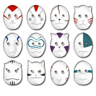• Guia de la Organización Anbu [Todas las Aldeas] • Anbu_mascaras