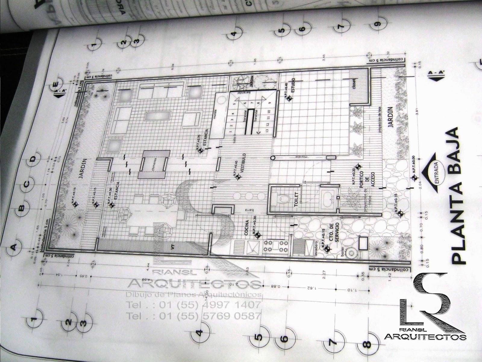 Arq rigoberto s nchez especialista en dibujo de planos for Niveles en planos arquitectonicos