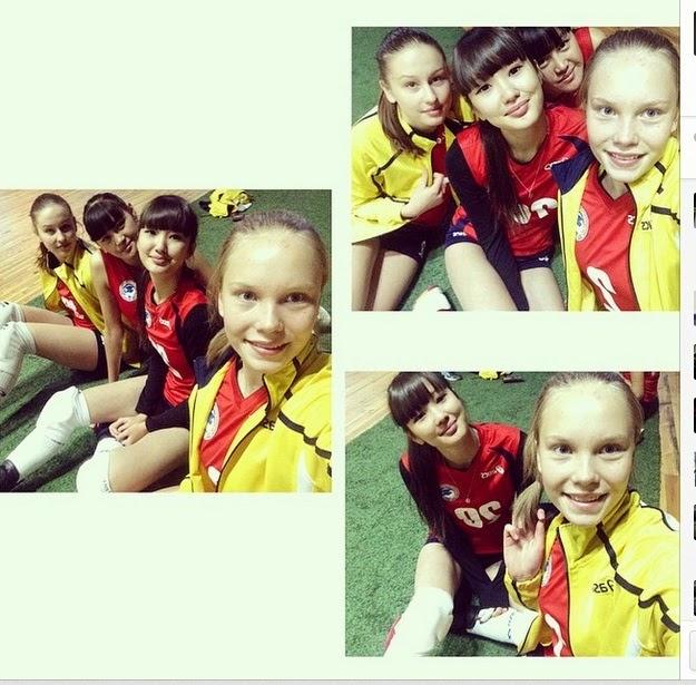 ... foto-foto Sabina Altynbekova yang lainnya. Ini foto Sabina saat sedang