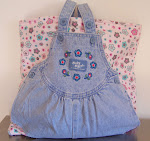 Denim Tote Baby Diaper Bag Flannel & Fleece